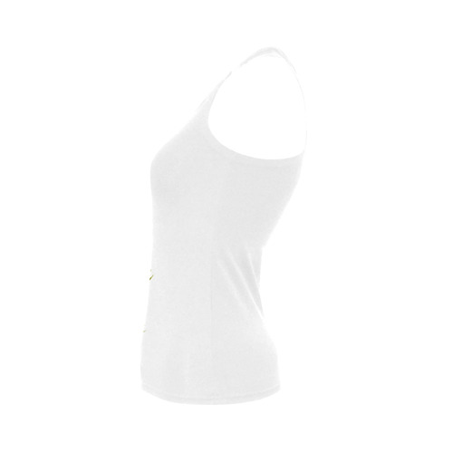 Lovely Swan  & Flower Lily in a Pond Women's Shoulder-Free Tank Top (Model T35)