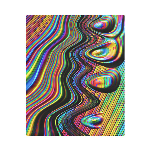 "Colors Gone Wild Abstract Fractal Art Duvet Cover 86""x70"" ( All-over-print)"