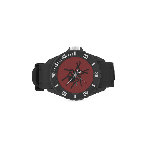 Crazy Bugs Red Sport Rubber Strap Watch(Model 301)