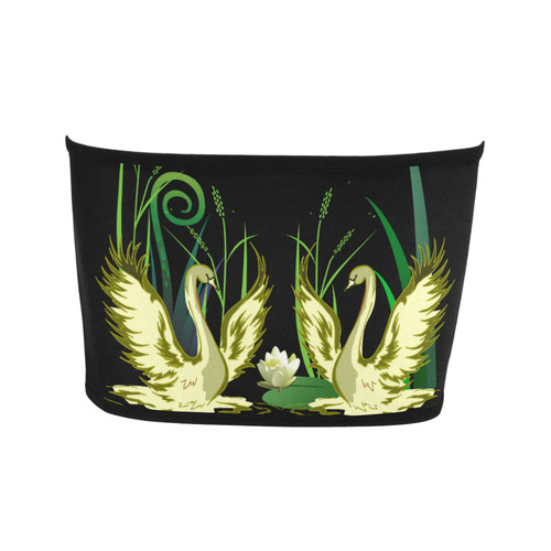Lovely Swans  & Flower Lily in a Pond Bandeau Top