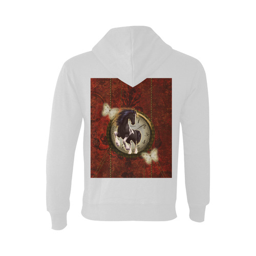Wonderful horse on a clock Oceanus Hoodie Sweatshirt (NEW) (Model H03)