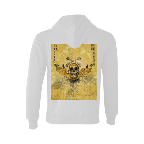 Awesome skull in golden colors Oceanus Hoodie Sweatshirt (NEW) (Model H03)