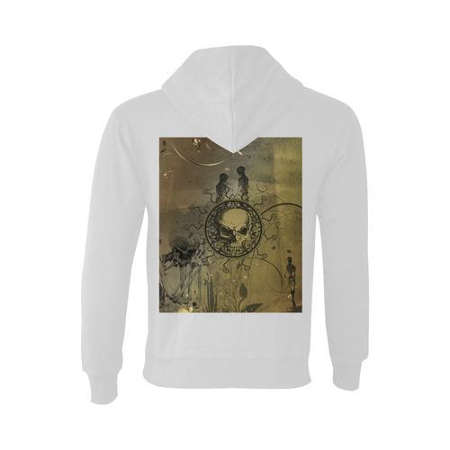 Amazing skull with skeletons Oceanus Hoodie Sweatshirt (NEW) (Model H03)