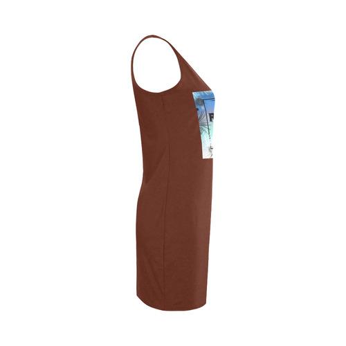 """We are making original designers dress. Vintage """"summer"""" collection. Brown. Old-fashion st Medea Vest Dress (Model D06)"""