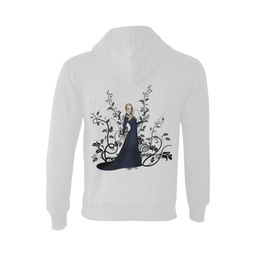 Wonderful fairy with black flowers Oceanus Hoodie Sweatshirt (NEW) (Model H03)