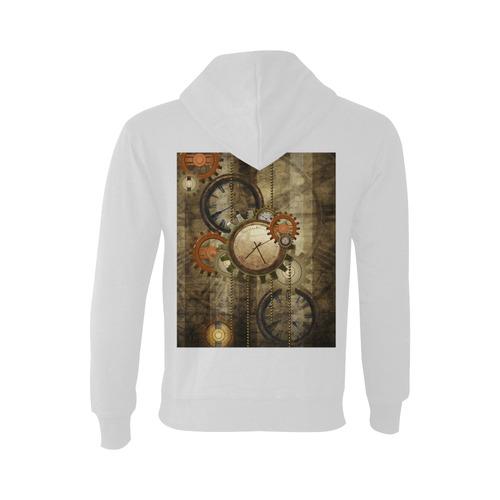 Steampunk, wonderful noble desig, clocks and gears Oceanus Hoodie Sweatshirt (NEW) (Model H03)