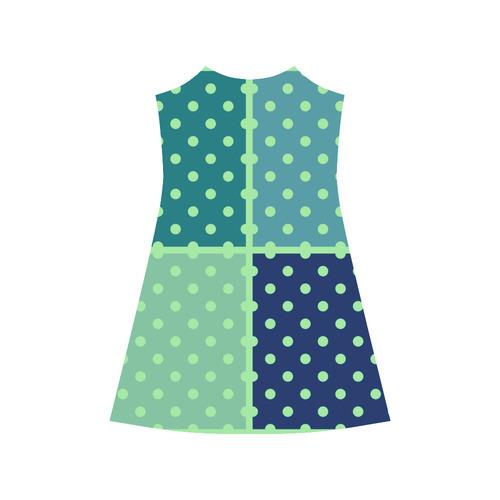 Old Vintage look. Desingers dots model. Shop latest fashion here. Arrivals for 2016 available / blue Alcestis Slip Dress (Model D05)