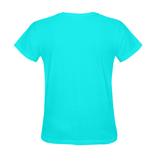 New designers t-shirt in shop. Luxury collection in fashion cyan with Original Photography. New arti Sunny Women's T-shirt (Model T05)