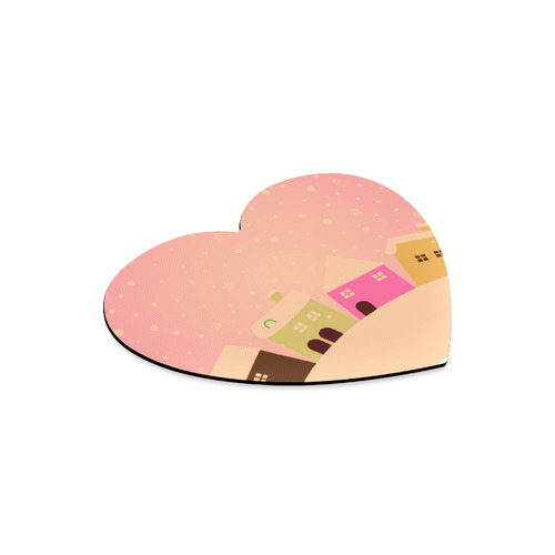 New arrival in Shop. Exclusive designers Mouse Pad. New christmas design 2016 available / Pink villa Heart-shaped Mousepad