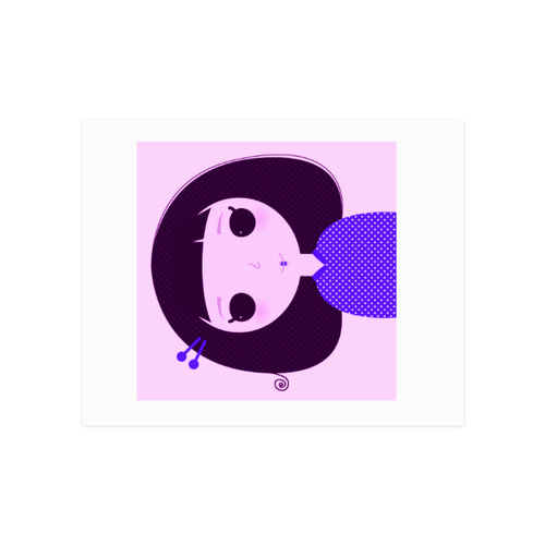 "Cute Japanese little Geisha. Designers edition : Pink, purple and black. Original Poster art 2016 Poster 16""x20"""
