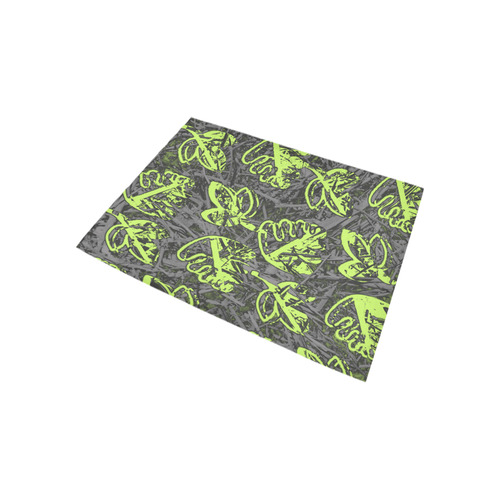 Leaves green Area Rug 5'3''x4'