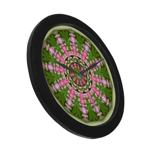 Bleeding Heart, Nature Mandala 002 01.1 Circular Plastic Wall clock