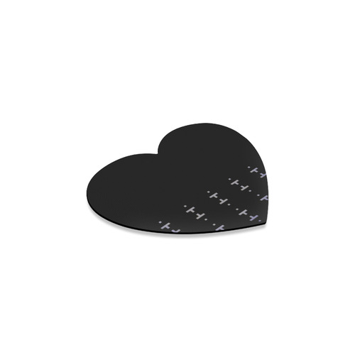 New arrival in Shop : Luxury designers mousepad / vintage black with folk motives 2016 collection Heart Coaster