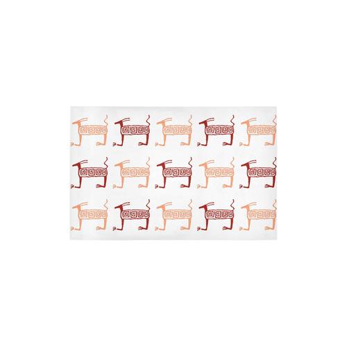 "ethnik animals pattern Area Rug 2'7""x 1'8''"