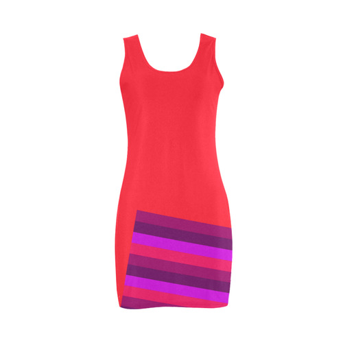 New dress available. Exclusive collection with designers stripes. 60s vintage look. Vibrant colors a Medea Vest Dress (Model D06)