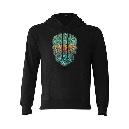 Día De Los Muertos DOUBLE SKULL Ornaments Grunge Oceanus Hoodie Sweatshirt (NEW) (Model H03)