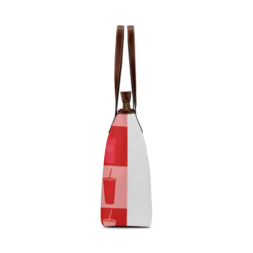 New art in shop : Exclusive vintage drinks marshmallow edition. New designers fashion 2016 Shoulder Tote Bag (Model 1646)