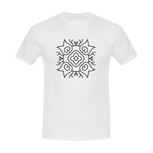 New arrival in Shop : Hand-drawn mandala art on T-Shirt. Original edition 2016 Men's Slim Fit T-shirt (Model T13)