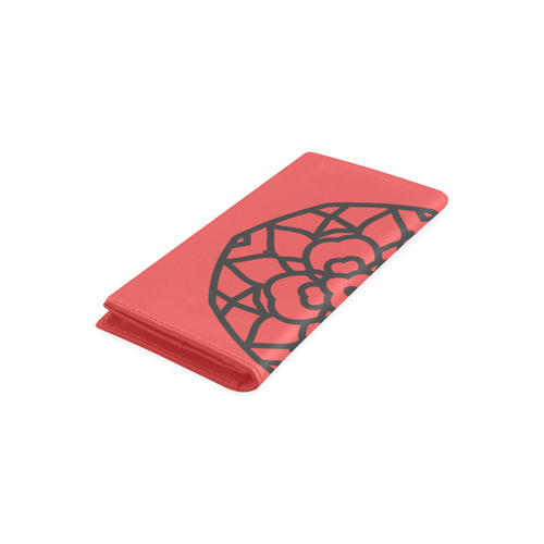 Exclusive hand-drawn artistic designers Wallet : black and red. Collection 2016 Women's Leather Wallet (Model 1611)