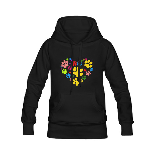 Paws heart by Popart Lover Men's Classic Hoodie (Remake) (Model H10)