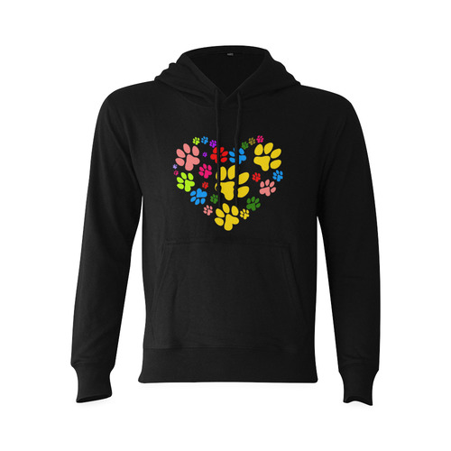 Paws heart by Popart Lover Oceanus Hoodie Sweatshirt (NEW) (Model H03)