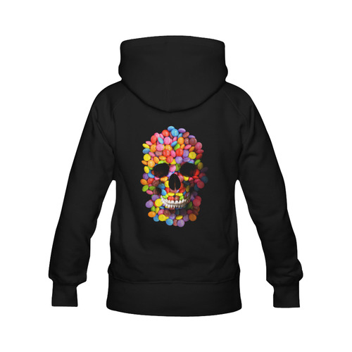 Candy Sugar Skull Halloweeen Men's Classic Hoodie (Remake) (Model H10)