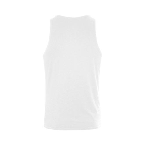 Boys mandala t-shirt with hand-drawn Art. Designers fashion in black and white Men's Shoulder-Free Tank Top (Model T33)