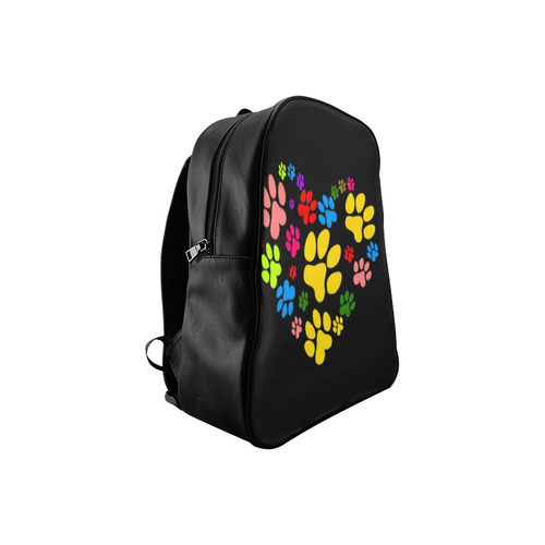 Paws heart by Popart Lover School Backpack/Large (Model 1601)