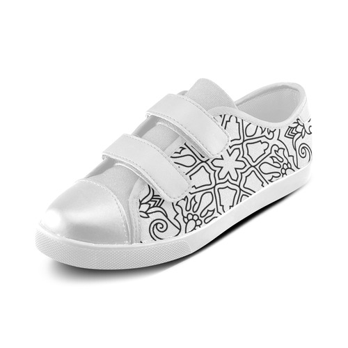 New artistic Shoes in shop : hand-drawn exclusive ornamental Art edition 2016 Velcro Canvas Kid's Shoes (Model 008)