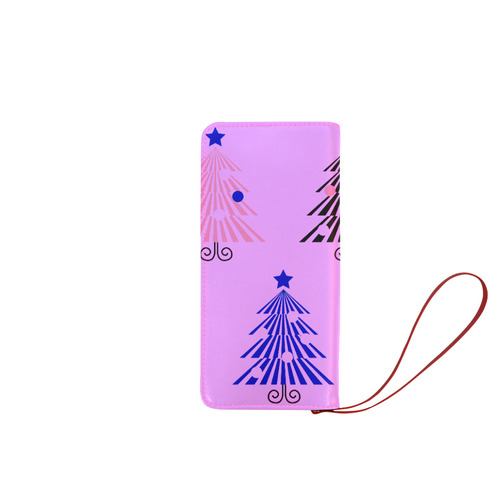 New arrival in Shop : designers pink wallet with christmas trees. New art in Shop. Just come! Women's Clutch Wallet (Model 1637)
