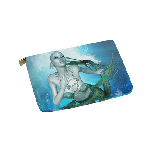 Wonderful mermaid in blue colors Carry-All Pouch 9.5''x6''