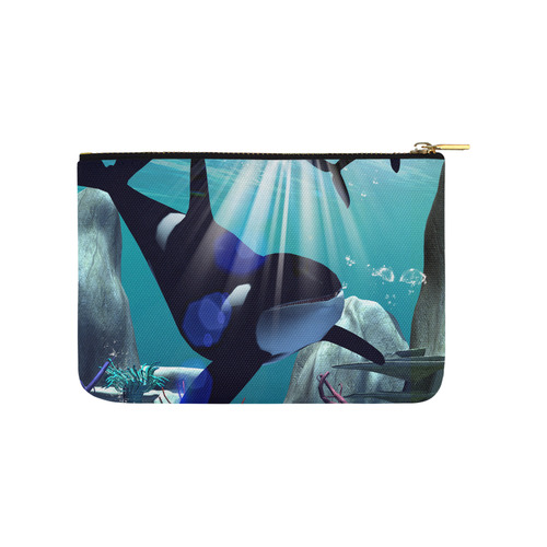 Awesome orca Carry-All Pouch 9.5''x6''