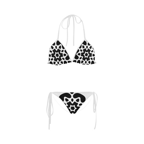 Original hand-drawn designers bikini in black and white. Fashion design for 2016 available Custom Bikini Swimsuit