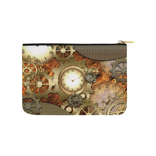 Steampunk in gold Carry-All Pouch 9.5''x6''