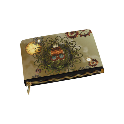 Steampunk cute owl Carry-All Pouch 9.5''x6''