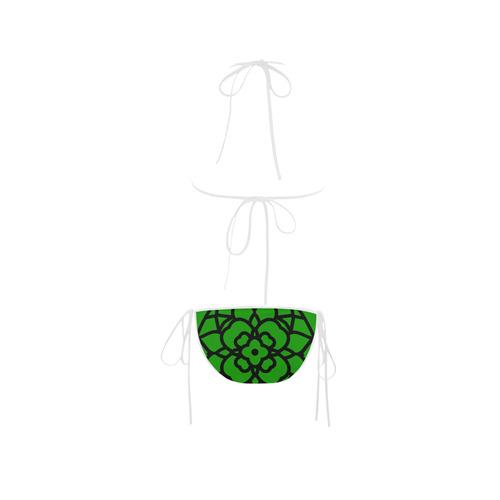 New bikini arrival in designers shop with hand-drawn Mandala art. Green editon. Folk fashion 2016 Custom Bikini Swimsuit