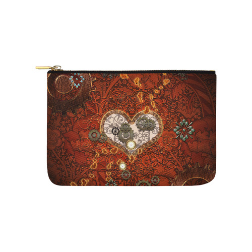 Steampunk, wonderful hearts Carry-All Pouch 9.5''x6''