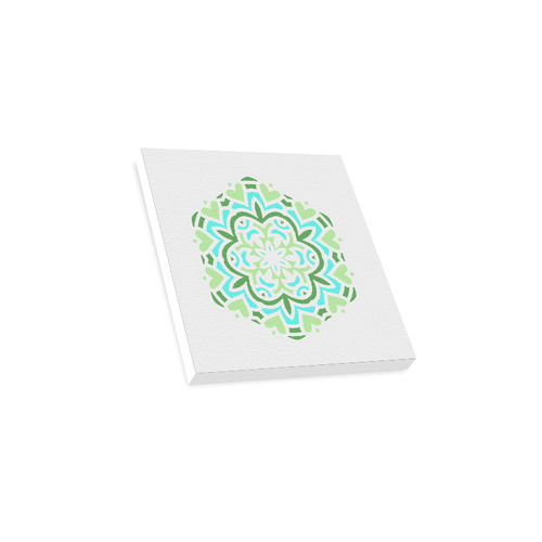 "New canvas on wall : Luxury designers Mandala Art on wall. Green, blue and white edition 2016 Canvas Print 12""x12"""