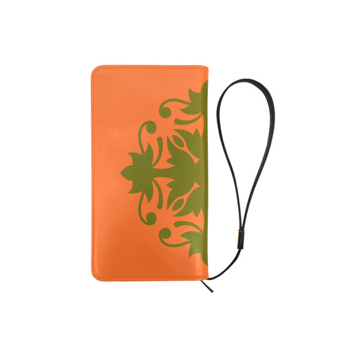 New wallet in shop : Designers wallet with Mandala Art edition. Orange and brown. Men's Clutch Purse (Model 1638)