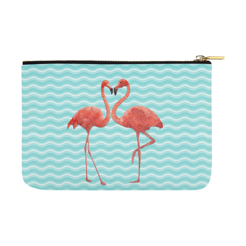 flamingo love Carry-All Pouch 12.5''x8.5''