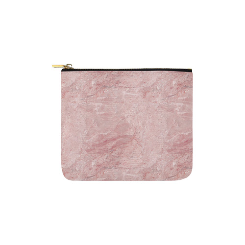 italian Marble, Rafaello Rosa, pink Carry-All Pouch 6''x5''