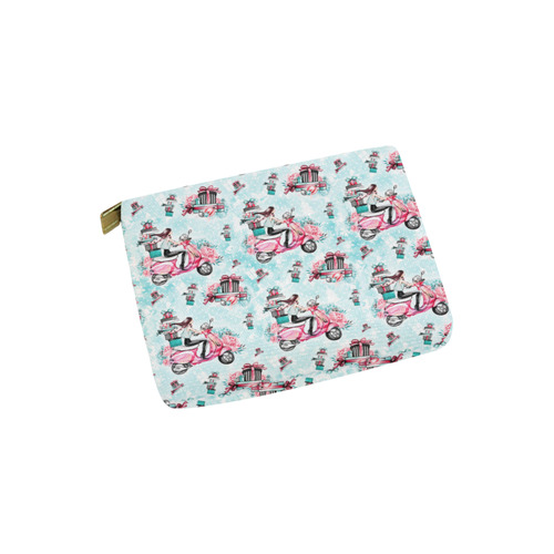 christmas, shopping girl Carry-All Pouch 6''x5''