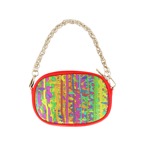 640201d4bd42 Pink Yellow Green Colorful Abstract Chain Purse (Model 1626)