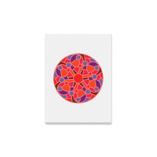 "New arrival in Shop : Original hand-drawn Mandala art. Beautiful original Canvas edition / Christmas Canvas Print 12""x16"""