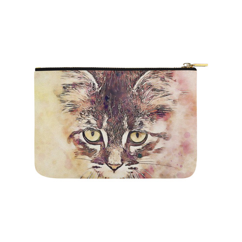 watercolor cat Carry-All Pouch 9.5''x6''