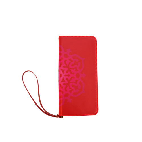 New arrival in shop! Red vintage edition / hand-drawn Mandala Art 2016 Collection. Exclusive WALLETS Women's Clutch Wallet (Model 1637)
