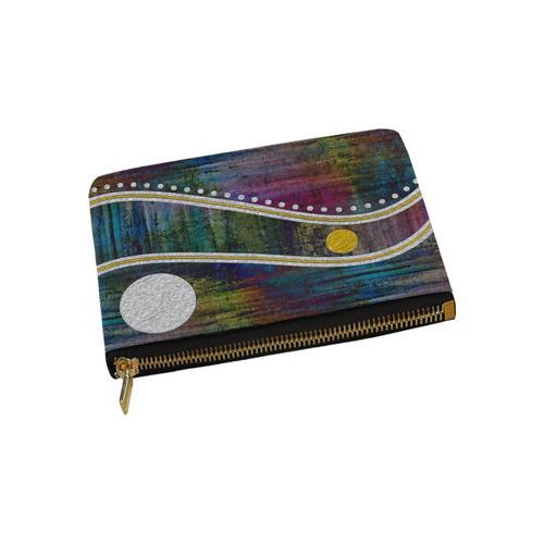 Landscape Waves Dots Grunge Gold Silver Carry-All Pouch 9.5''x6''