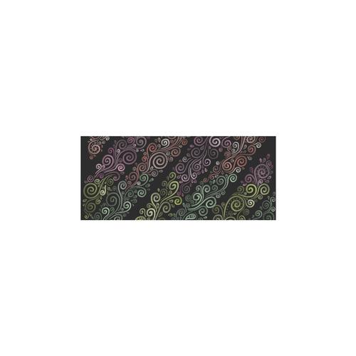 Psychedelic pastel rainbow Sleeveless Splicing Shift Dress(Model D17)