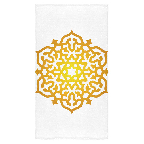 """New in shop : Luxury designers towel edition / mandala yellow with white edition 2016. Authentic art Bath Towel 30""""x56"""""""
