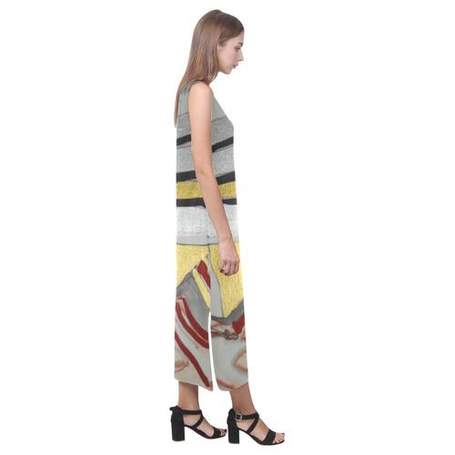 Sxisma Fashion Phaedra Collection-10 Phaedra Sleeveless Open Fork Long Dress (Model D08)